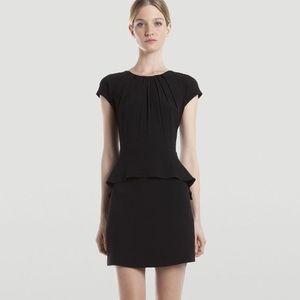 Sandro Ribambelle Peplum Crepe Black Dress Size 2